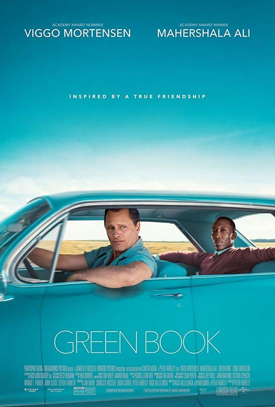black man and white man in green car